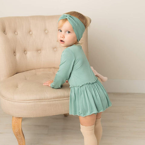 River Long Sleeve Skirted Bamboo Bodysuit