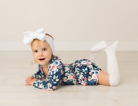 Skyler Long Sleeve Skirted Bodysuit