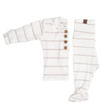 Baby Top & Bottom Set- Fawn Stripe
