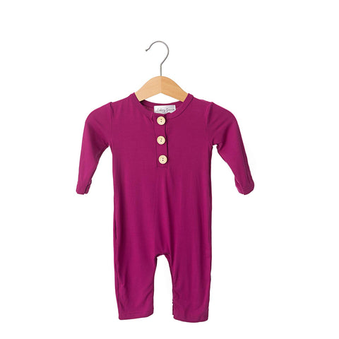 Winterberry Button Bamboo Romper