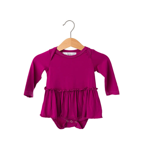 Winterberry Long Sleeve Skirted Bamboo Bodysuit