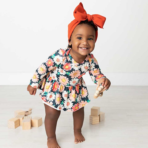 Ella Long Sleeve Skirted Bodysuit