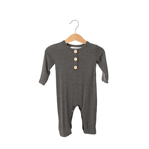 Heather Steel Button Bamboo Romper