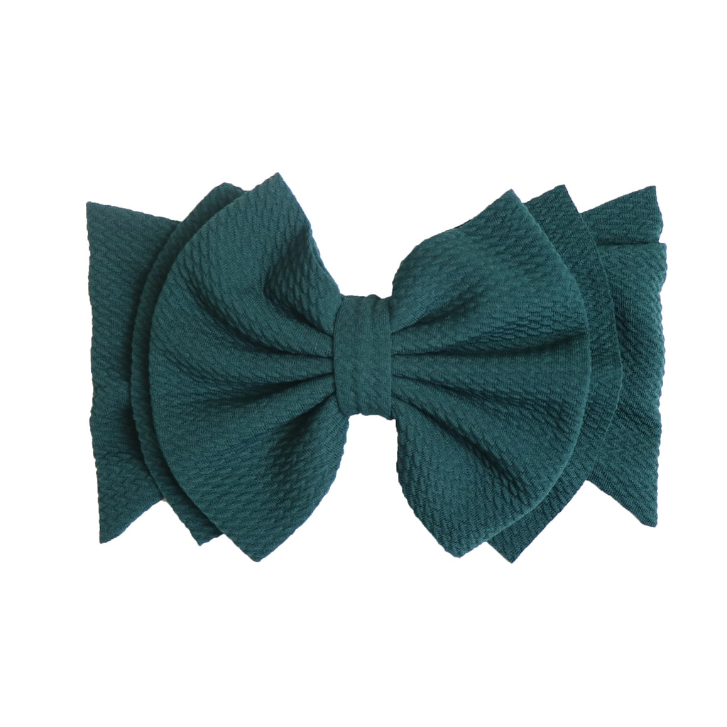 Pine Green Abby Bow Headwrap