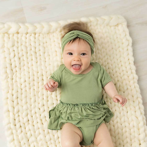 Avocado Short Sleeve Skirted Bodysuit