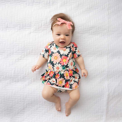 Ella Short Sleeve Skirted Bodysuit