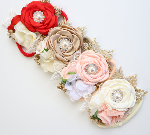 Glamour Flower Nylon Headband