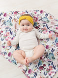 French Rose Swaddle & Headband Set