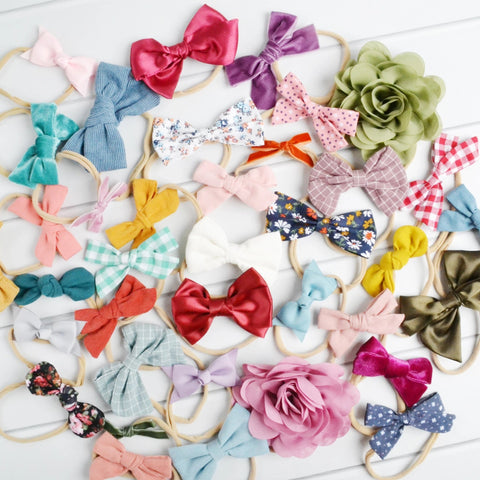 Grab Bag of skinny nylon headbands