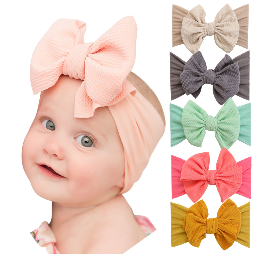 Emma Bow Nylon Baby Headwrap