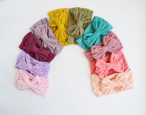 Messy Bow Nylon Headwrap