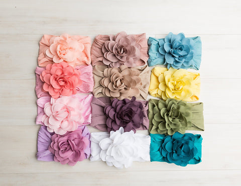 Mia Flower Nylon Baby Headband