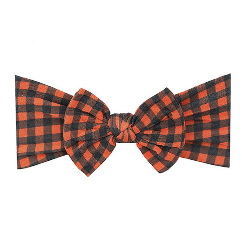 Red and Black Plaid Print Classic Knot