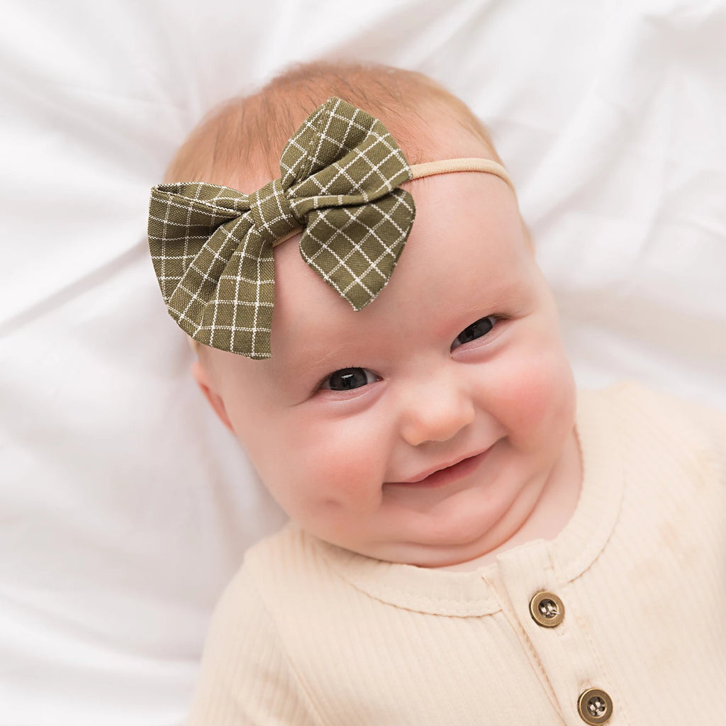 Riley Bow Skinny Nylon Headband