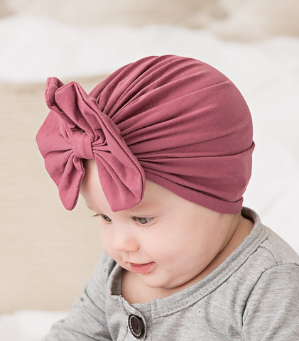 Turban Hat- Messy Bow