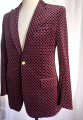 PRINTED VELVET DINNER SUIT JACKET