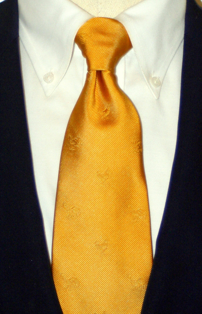 GOLD ROOSTER OF GOLD SILK LONG TIE
