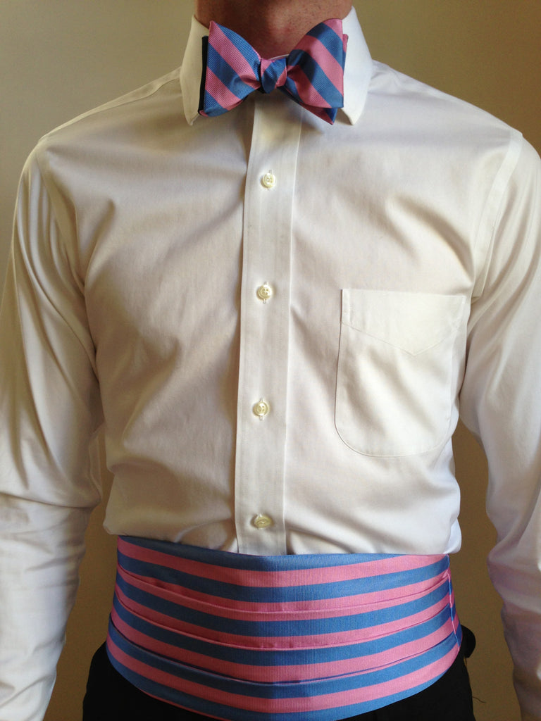 English Silk Repp Cummerbund and Bow Tie set