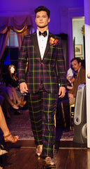 FARQUHARSON TARTAN DINNER SUIT, JACKET, PANTS