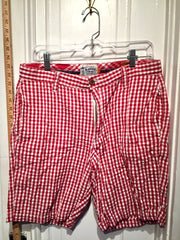 THE LOCKER ROOM TUSCALOOSA RED GINGHAM BERMUDA SHORTS