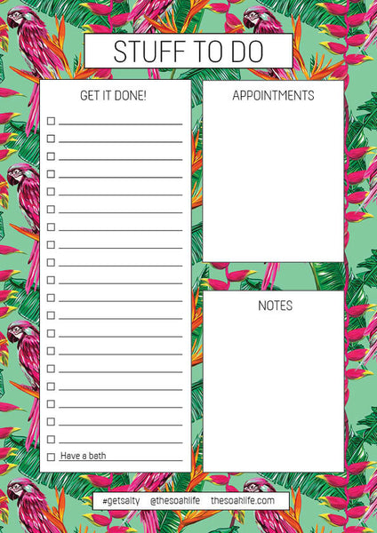 The Soak Life To Do List Free Downloadable - Lost in Paradise Print