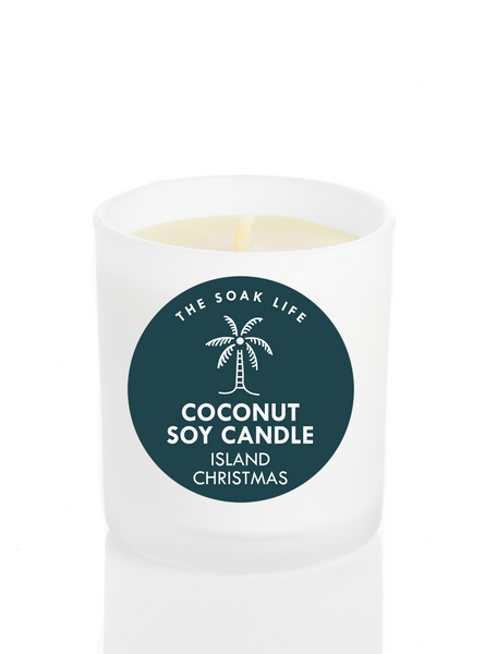 Island Christmas Coconut Soy Wax Candle