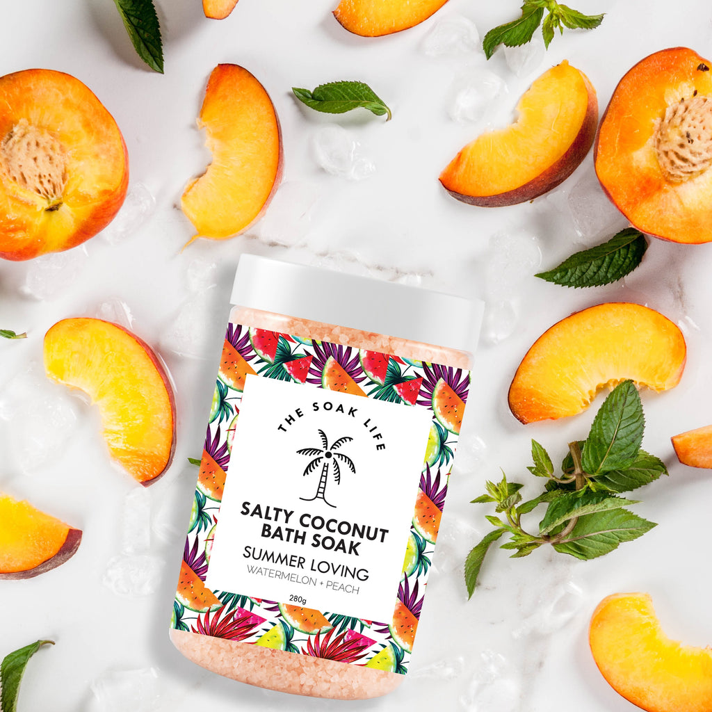 The Soak Life Bath Salts - Summer Loving Salty Coconut Bath Soak Peach