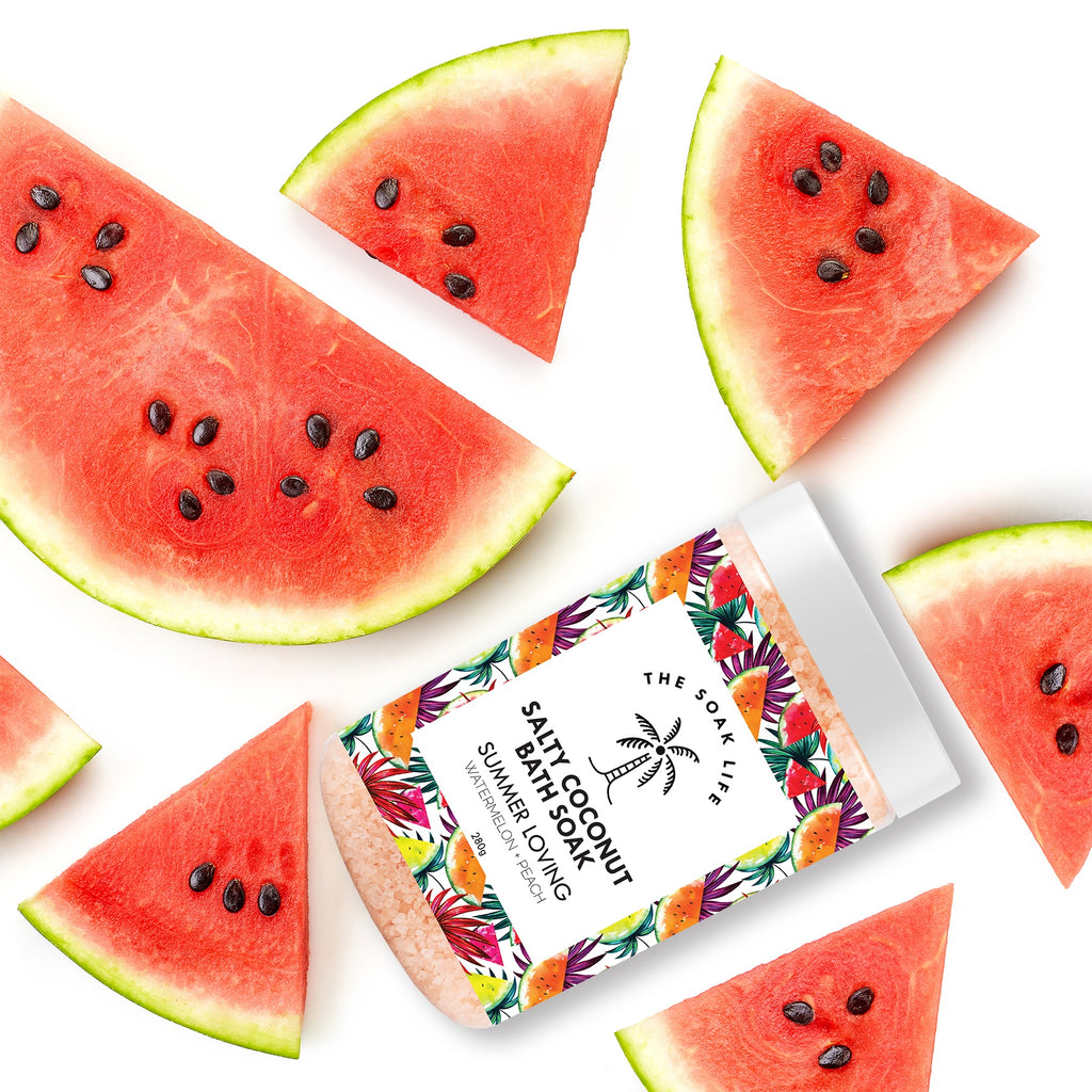 The Soak life Bath Salts - Summer Loving Salty Coconut Bath Soak watermelon