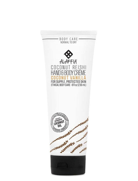 Body Lotion - Alaffia Hand & Body Cream - Coconut Vanilla Reishi