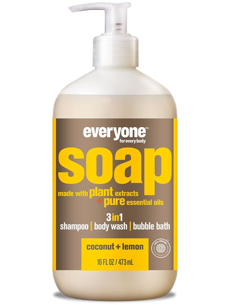 Body Wash & Soap - EVERYONE 3 In 1 Soap - Coconut + Lemon