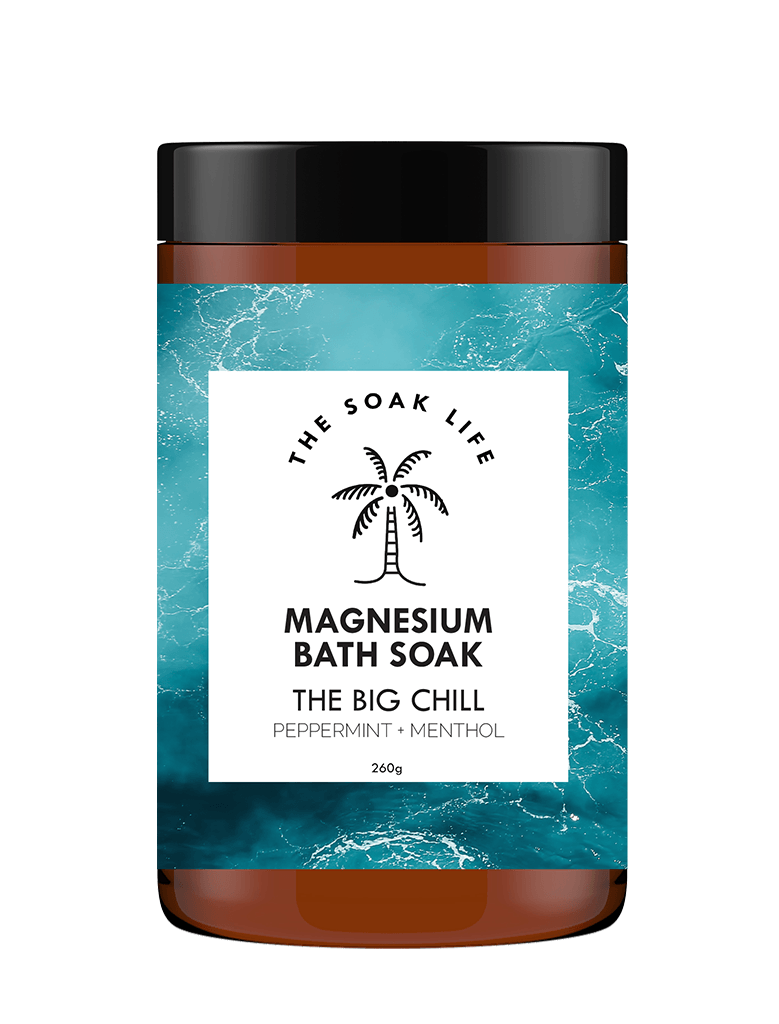 The Soak Life Gift Set - Gym Essentials Kit The Big Chill Magnesium bath Soak