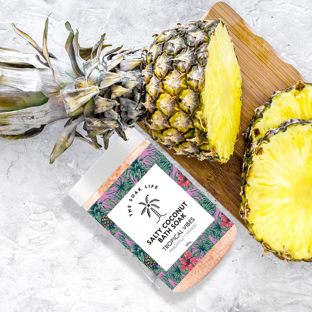 The Soak Life Bath Salts - Tropical Vibes Salty Coconut Bath Soak Pineapple