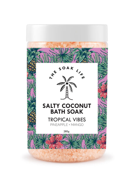 The Soak Life Bath Salts - Tropical Vibes Salty Coconut Bath Soak Mango Pineapple