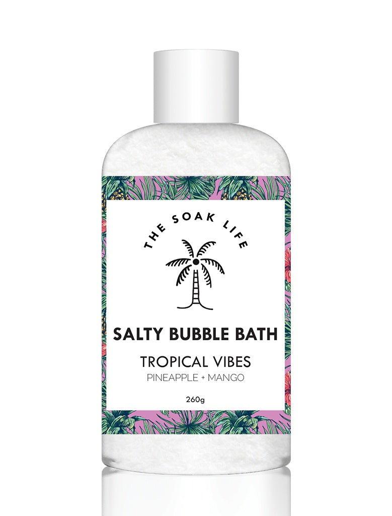 The Soak Life Salty Bubble Bath - Tropical Vibes Salty Bubble Bath