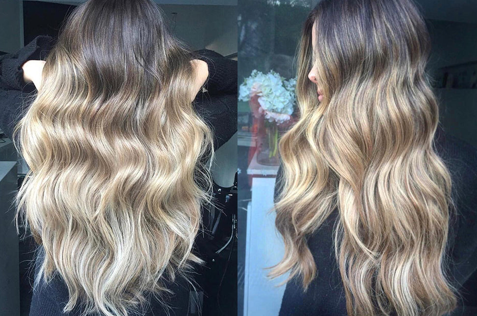 halo hair extensions: best hair extensions for balayage