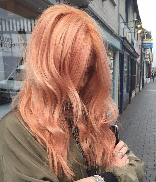 pastel hair colors: rose gold