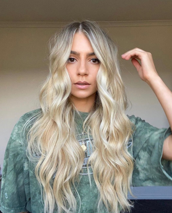 NEW HAIR TRENDS FOR WOMEN 2021 BLONDE HALO HAIR EXTENSIONS