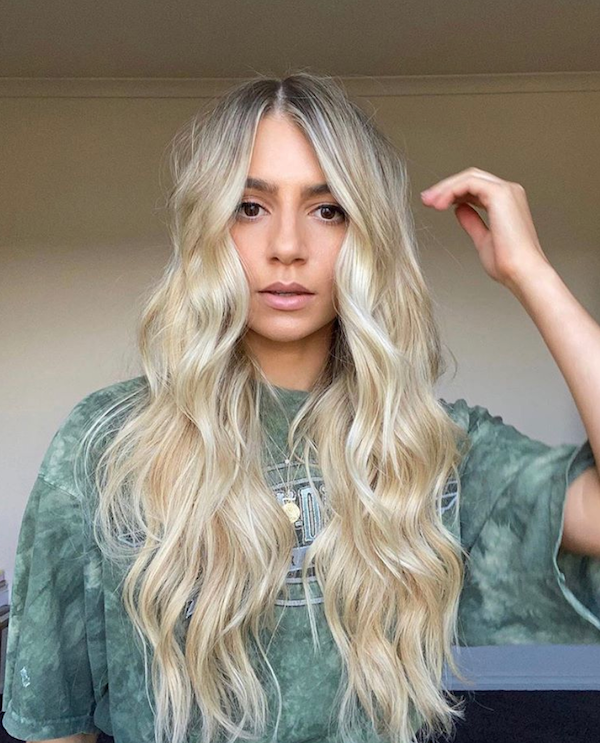 blonde halo hair extensions