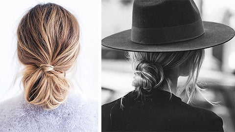 How to do effortless low buns
