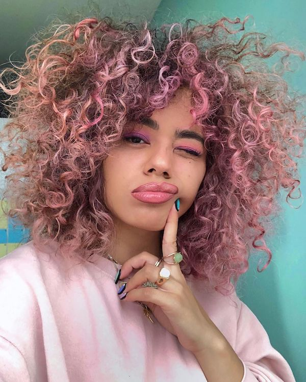 curly girl method curly hair types
