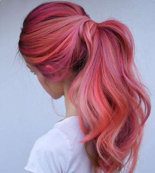 pastel hair colors: flamingo pink