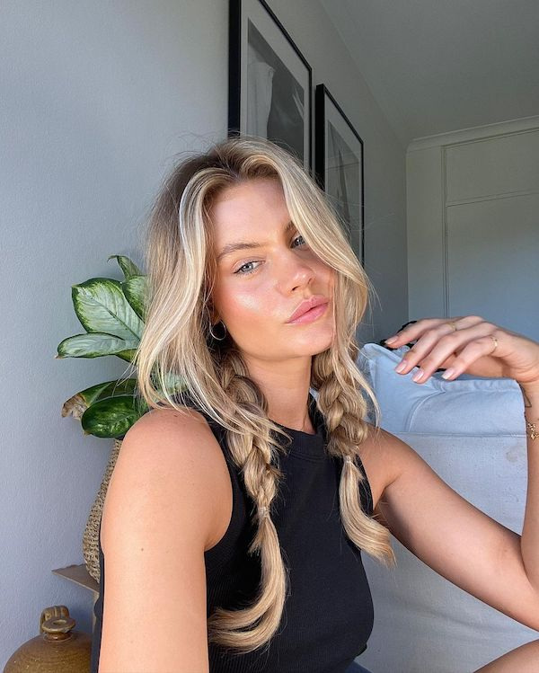 easy hair styles with halo hair extensions plaits