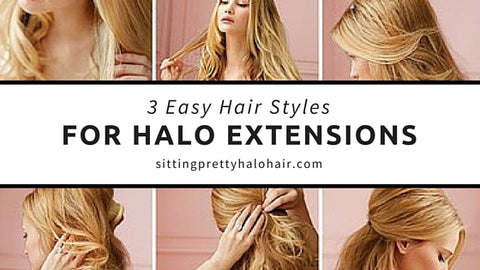 how to style halo hair extensions 3 easy halo extension hairstyles sitting pretty halo 7106