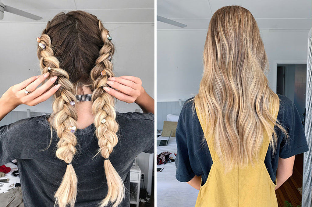 how to do french braids with halo hair extensions