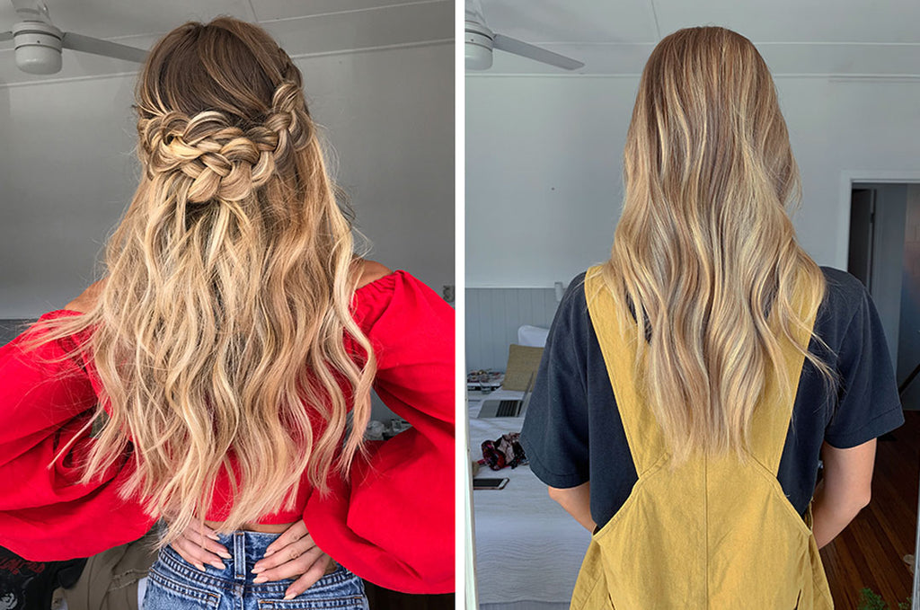 how to do a braid crown with halo hair extensions