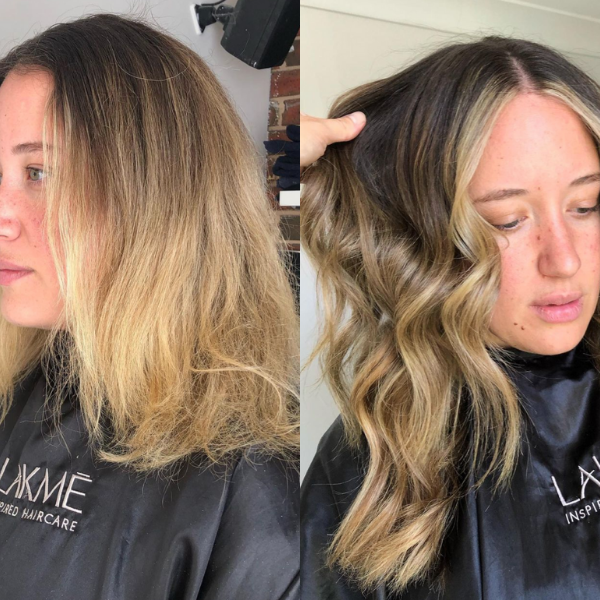 halo hair extensions before and after
