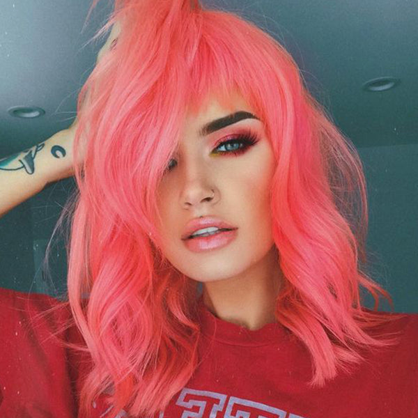 pastel hair colors: hot pink