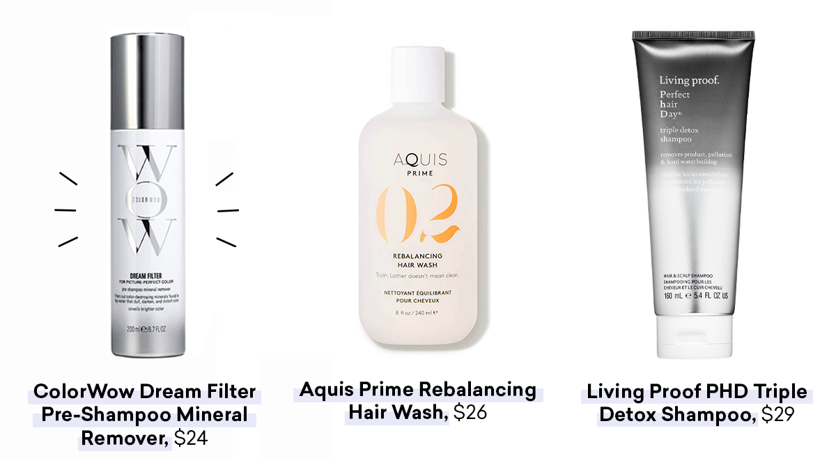 shampoos to help you figure out how to protect hair fall from hard water