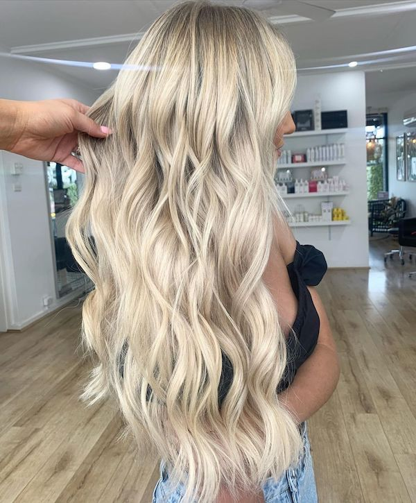 how to wear halo hair extensions mermaid waves