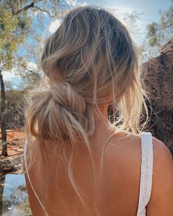 how to wear halo hair extensions messy bun